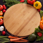 Handled Bamboo Cutting Board