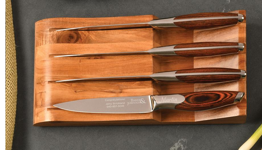 4-Piece steak knife set from LifeLong Gifts and LifeLong Cutlery
