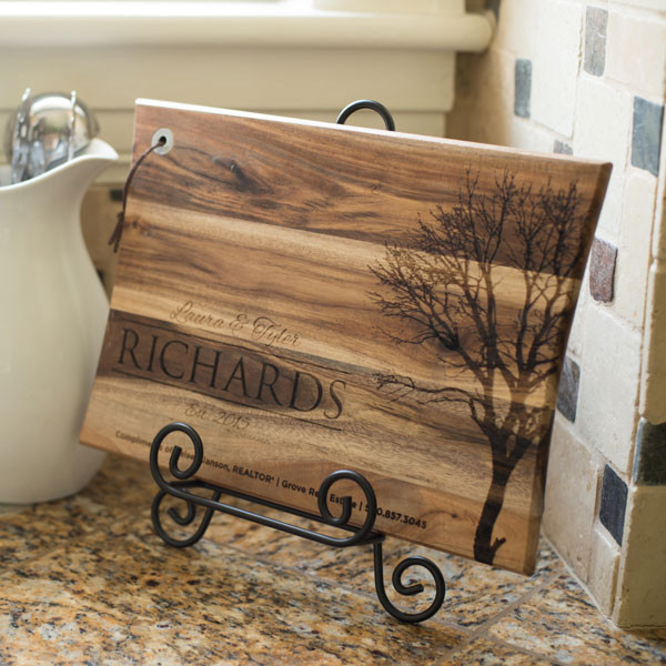 Metal Cutting Board Display Stand