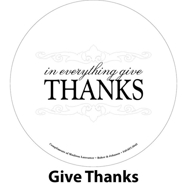 give thanks engraving sample
