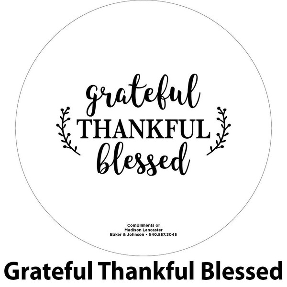 grateful thankful blessed engraving