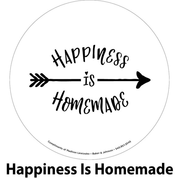 homemade happiness engraving sample