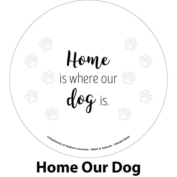 our dog engraving sample