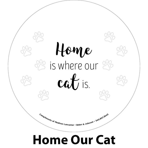 our cat engraving sample