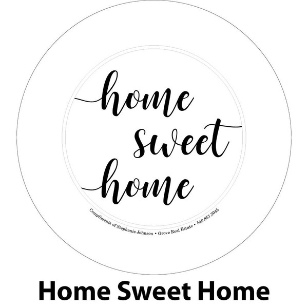 home sweet home engraving sample