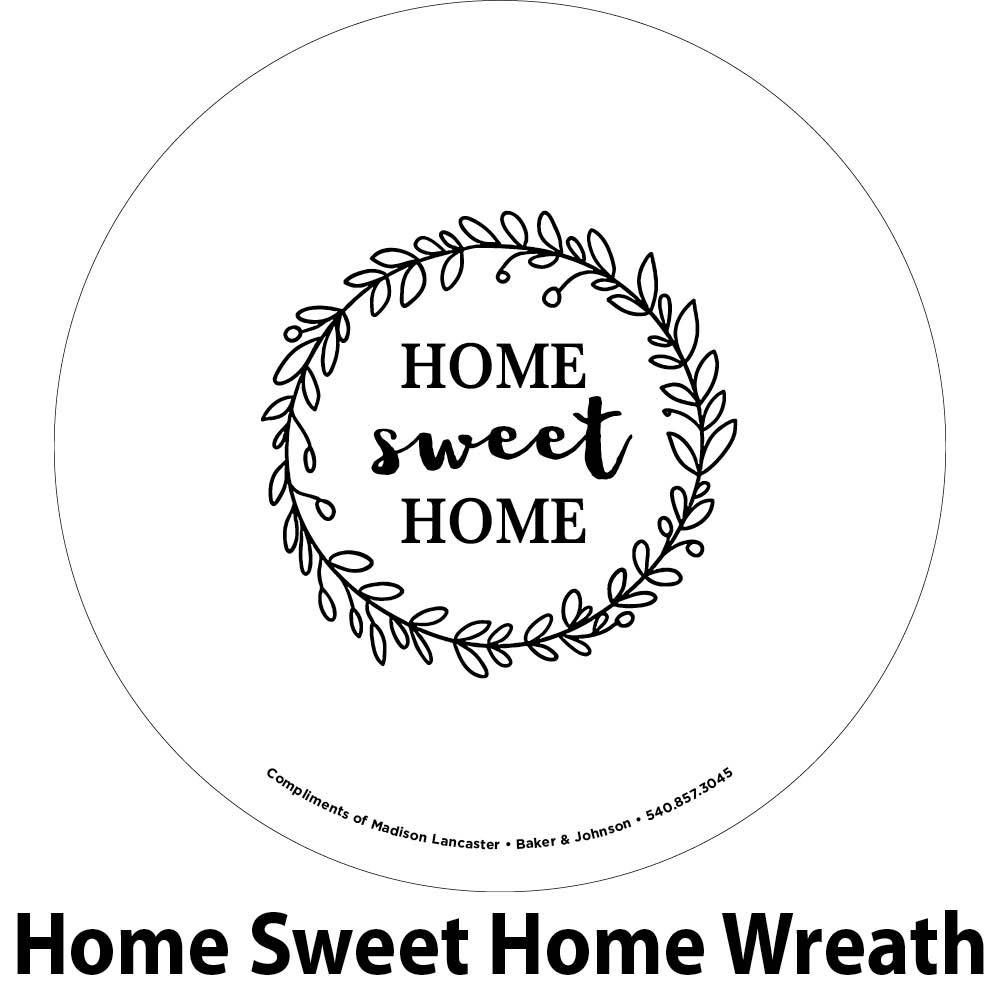 home sweet home engraving sample