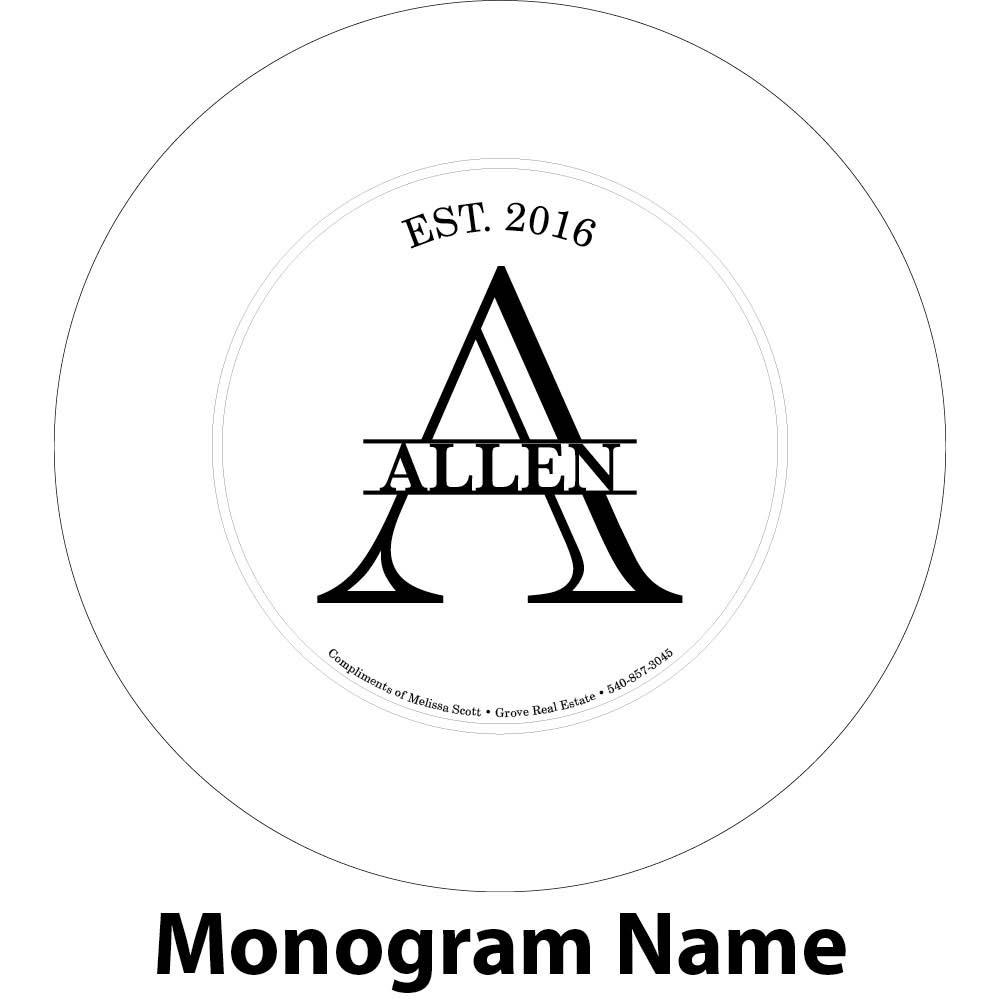 last name initial engraving sample