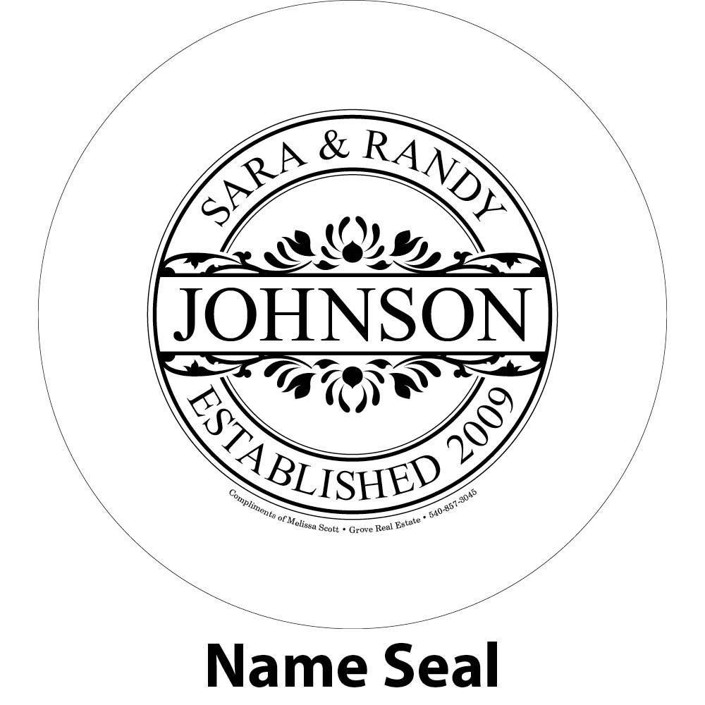 family name engraving sample