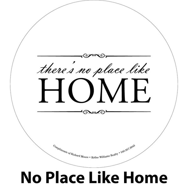 No place like home engraving sample