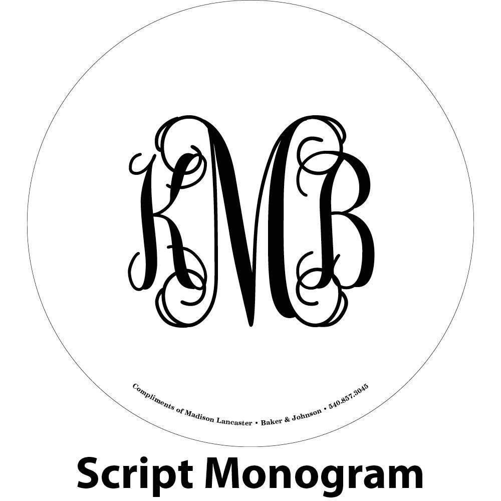 classic monogram engraving sample
