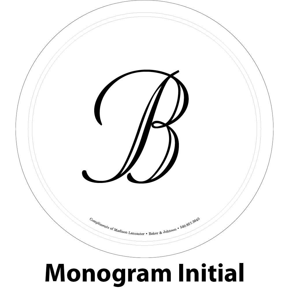 single initial engraving sample