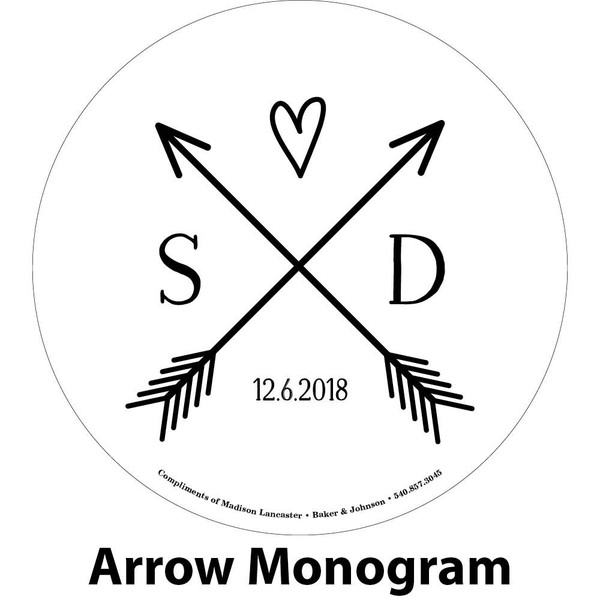 arrows initials engraving sample
