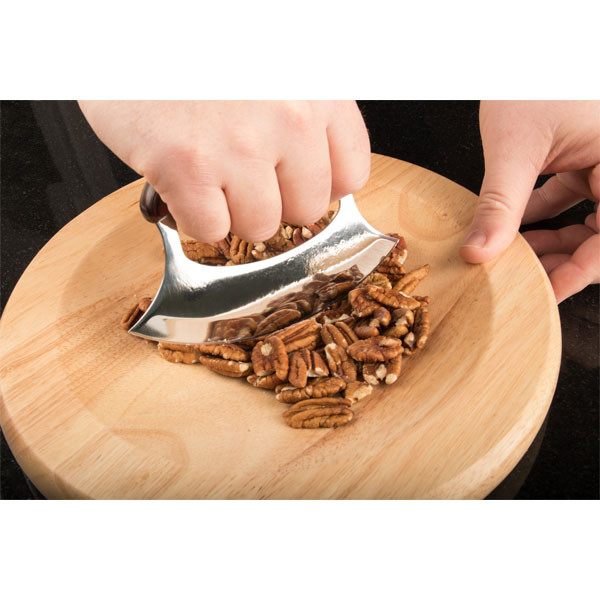 Ulu is ideal for chopping nuts