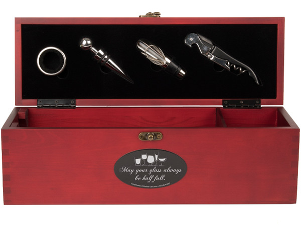 Wine Box with Engraved Medallion